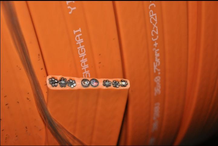 H05VVH6-F 扁平控制电缆36G0.75平方 36芯 CE认证扁平电缆线