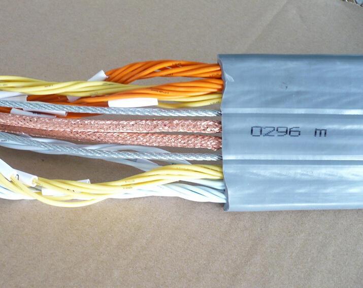 HO5VVD3H6-F/欧标认证电梯电缆,H07VVD3H6-F 带钢丝电梯随行屏蔽电缆,TVVBPG钢丝加强带屏蔽扁平电梯随行电缆